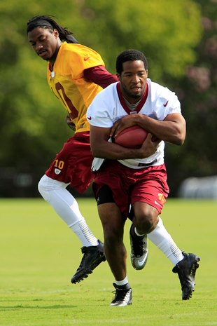 Robert Griffin III and Alfred Morris (USA Today Sports Images)