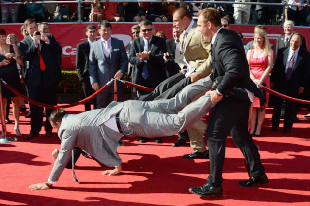 This is how a Gronkowski arrives at the ESPYs (Getty Images)