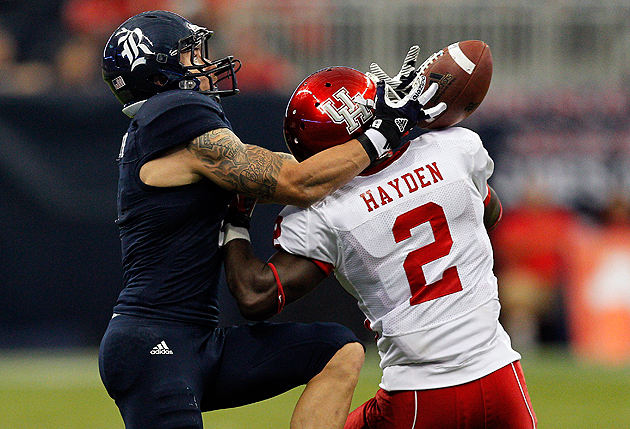 Houston cornerback D.J. Hayden provides an interesting stylistic palette. (Getty Images)