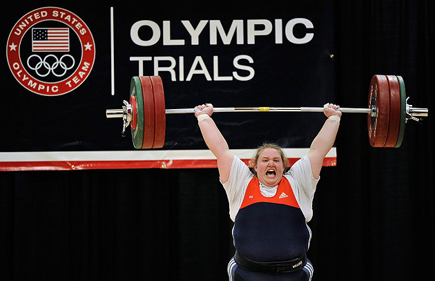 Yes, Holley Mangold can lift more than you. In fact, she can lift you, tough guy. (Getty Images)