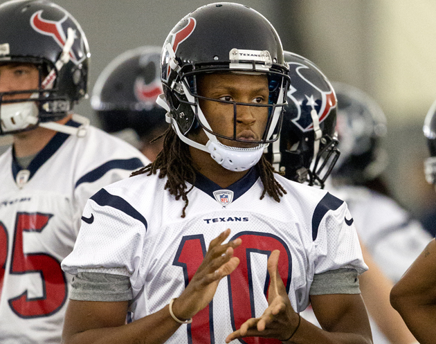 DeAndre Hopkins is ready to roll. (Getty Images)