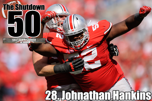 There are times when Johnathan Hankins is as dominant as any player in this draft class. (Getty Images)