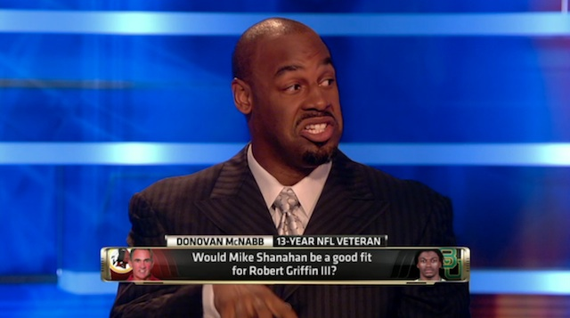 Donovan McNabb says Robert Griffin III won't work in Redskins offense