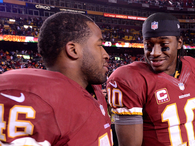 Morris and Robert Griffin III were a perfect combination from the start. (Getty Images)