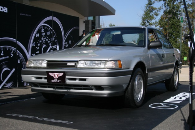"""Bentley,"" the refurbished 1991 Mazda 626 of Redskins running back Alfred Morris"
