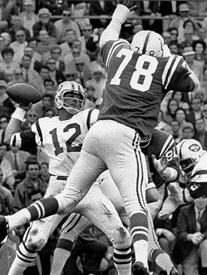 Namath was able to back up the hype. (AP)