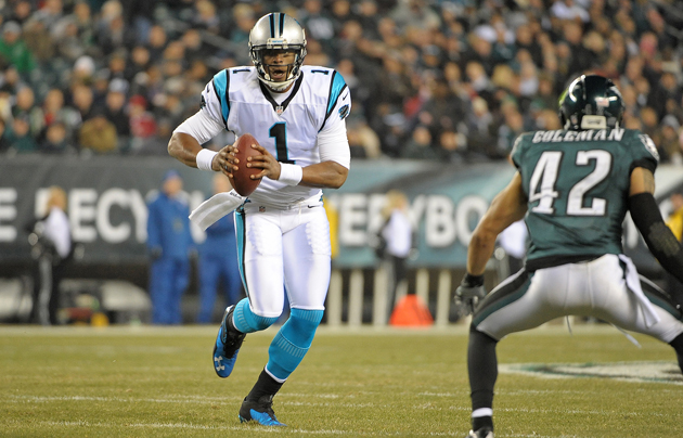 Cam Newton was the latest quarterback to baste the Eagles. (US Presswire)