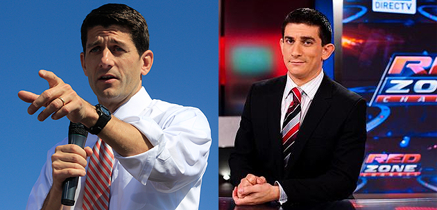 Um, we THINK that's Paul Ryan on the left. (AP/DirecTV)