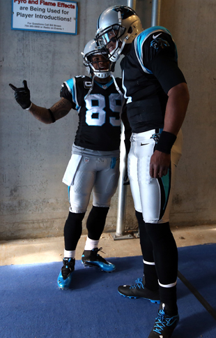 Steve Smith and Cam Newton make an interesting pair. (Getty Images)