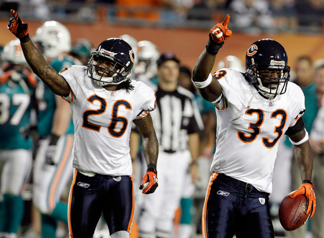 Tillman and Tim Jennings (26) comprise one of the NFL's best CB duos. (AP)