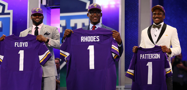 The Vikings managed quite the first-round haul. (Getty Images)