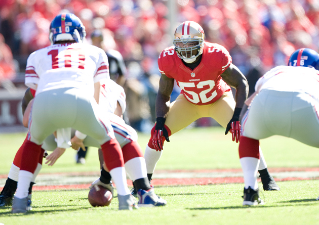 This wasn't Patrick Willis' finest day. (Getty Images)
