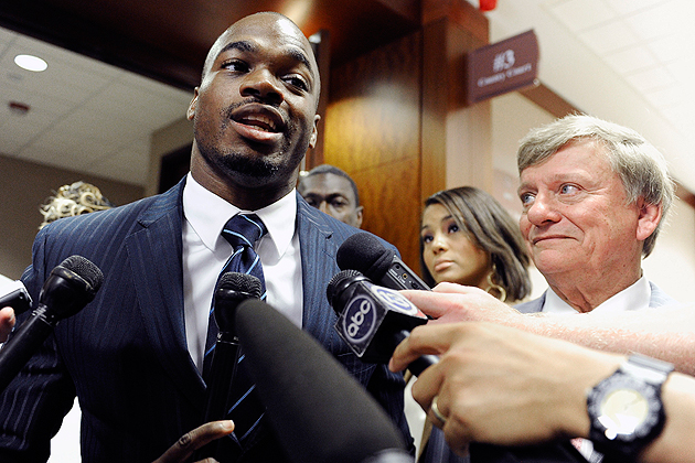 Adrian Peterson's recent arrest might not hold up, but other Vikings need help figuring things out. (AP)