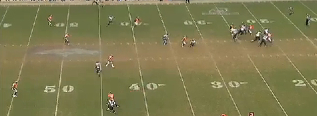 ...and force Denver's safeties to play Dennis Pitta tight while Jones runs on by. (NFL.com)