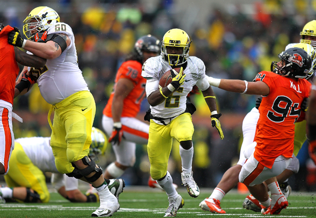 Oregon confounds its opponents with speed, pace, and power. (Getty Images)