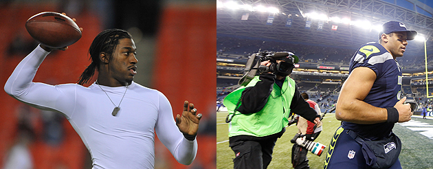 Robert Griffin III and Russell Wilson are changing the NFL's rules as they go along/ (Getty Images)