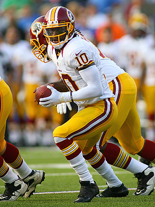 Not a bad debut for the Redskins' new superstar. (Getty Images)