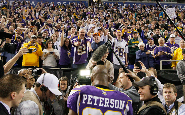Everybody agrees: Adrian Peterson is the man. (Getty Images)