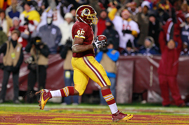 Alfred Morris powered the Redskins' NFC East-clinching win (USA Today Sports Images)