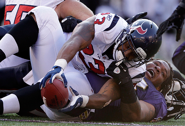 Arian Foster will need to hold on to that football. (Getty Images)