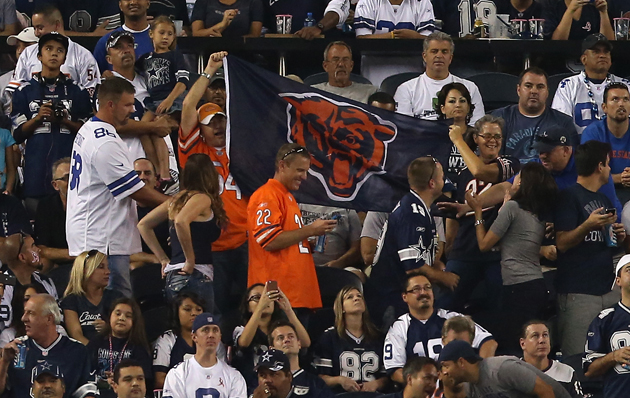 Cowboys Stadium was overrun by traveling Swerskis on October 1. (Getty Images)