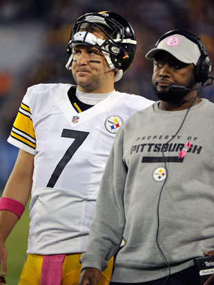 Ben Roethlisberger and Mike Tomlin don't like 'dink-and-dunk.' (Getty Images)
