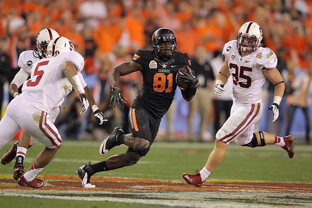 Don't believe the hype -- Justin Blackmon has all the tools. (Getty Images)