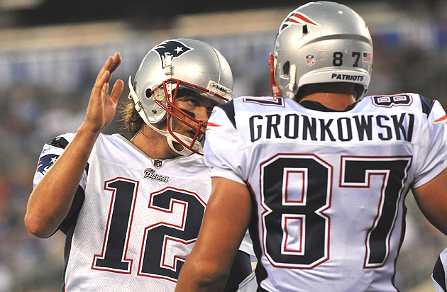 Tom Brady may need his favorite tight end to play a different role... (Getty Images)