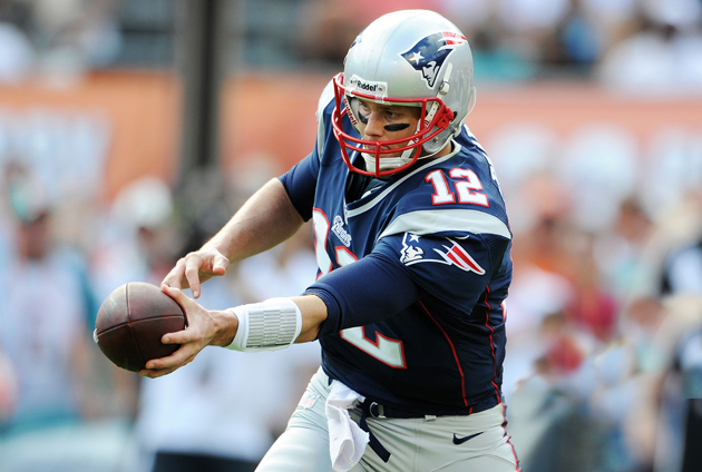 When Tom Brady gets rolling with play action, it's not good for enemy defenses. (Getty Images)