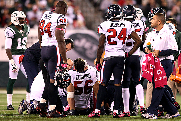 Blocks like the one that ended Brian Cushing's season are now illegal (Getty Images)
