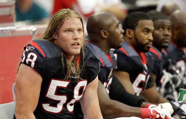 The Texans looked at more than the hair when betting that Brooks Reed could be their Clay Matthews. (Getty Images)