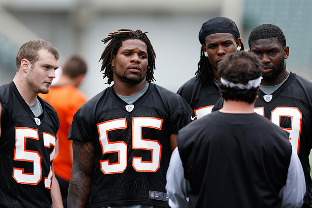 Vontaze Burfict (55) would like you to know that there's more to him. (Getty)
