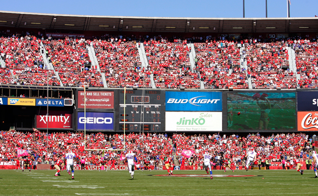 Not everybody who planned to make into Candlestick Park did so today. (Getty Images)