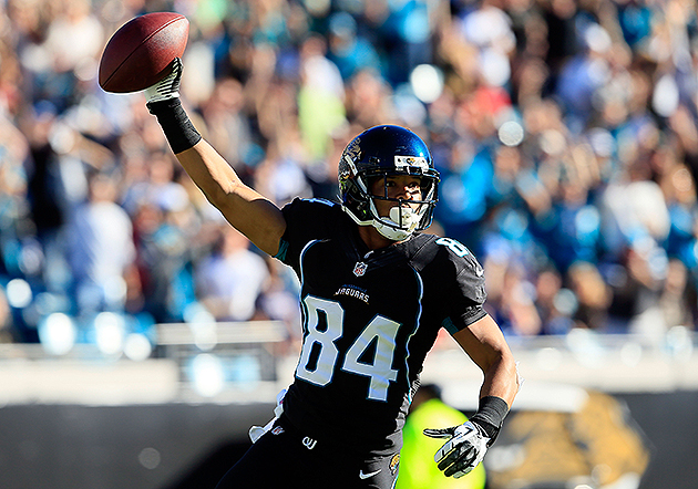 Cecil Shorts was a bright spot for the 2012 Jaguars (Getty Images)