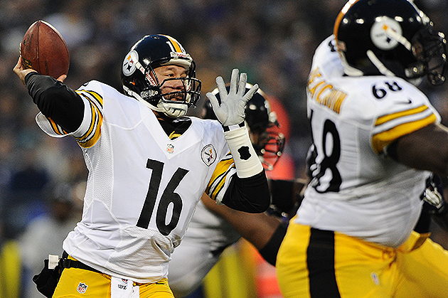 Charlie Batch leads the Steelers to win over Ravens (Getty Images)