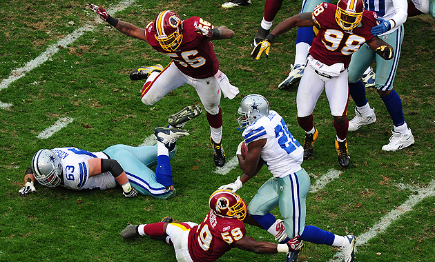 For once, the Cowboys and Redskins are on the same side. (Getty Images)
