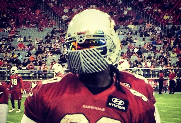 Darnell Dockett has a fierce new face mask (AZCardinals.com)