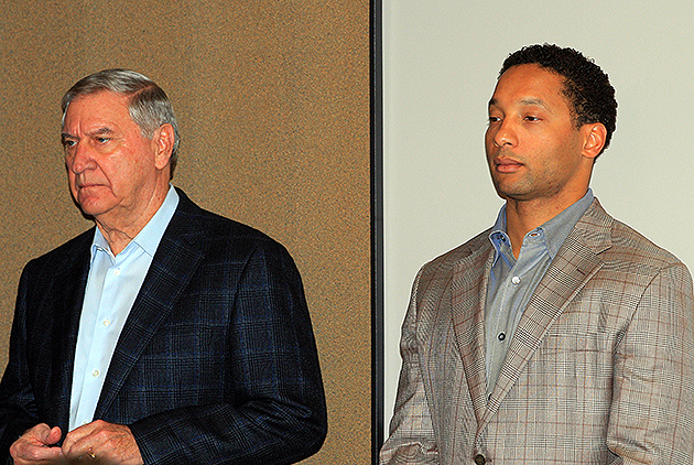 Doug Whaley (r.) was named GM of the Buffalo Bills (USA Today Sports Images)