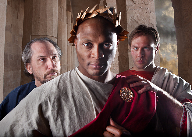 Eddie George as Julius Caesar (Nashville Shakespeare Festival/Photo by Jeff Frazier)