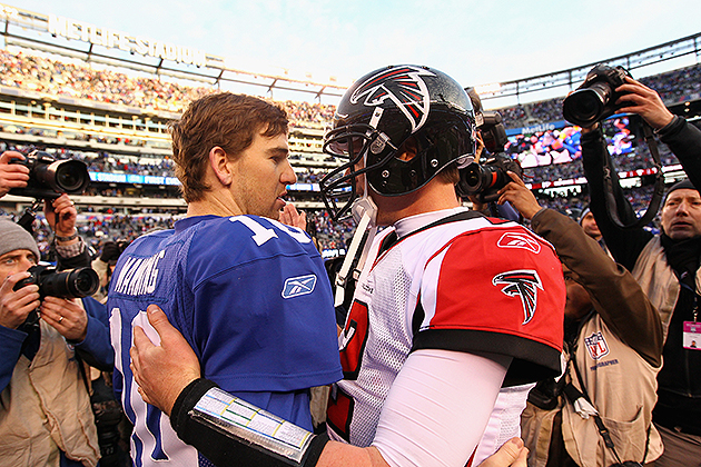 Matt Ryan may be on the winning side of this exchange (Getty Images)