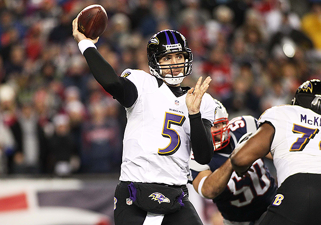 Joe Flacco and the Ravens will open on the road in 2013 (USA Today Sports Images)