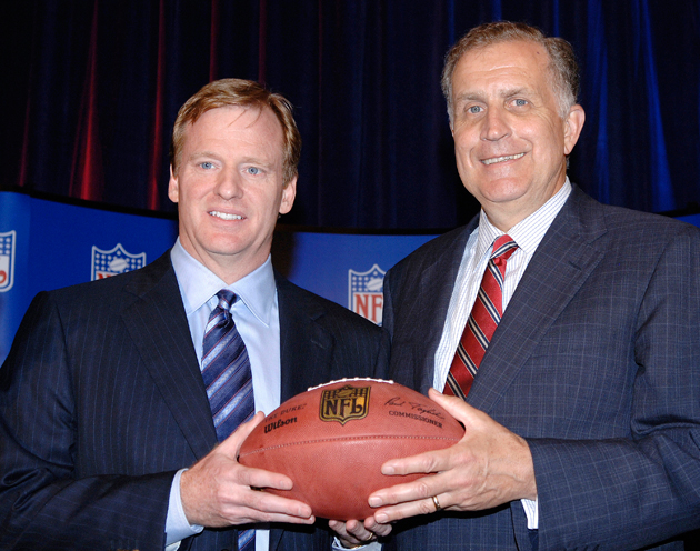 Goodell and Tagliabue in August, 2006, on the day that Goodell was named NFL Commissioner. (Getty Images)