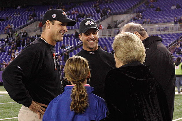 Jack and Jackie Harbaugh met the media on Wednesday (USA Today Sports Images)