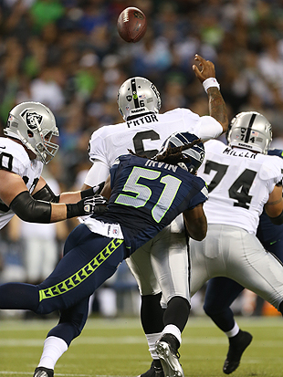 The lights finally came on against the Raiders. (Getty Images)