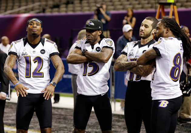 Jacoby Jones (12) made sure his teammates ate well this week. (AP)