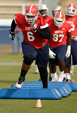 John Jenkins is a very large -- but surprisingly quick -- young man. (USAT Sports Images)