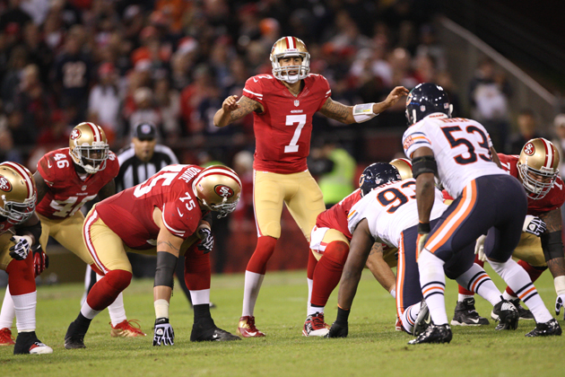 Colin Kaepernick did not look like a first-time NFL starter. (Getty Images)
