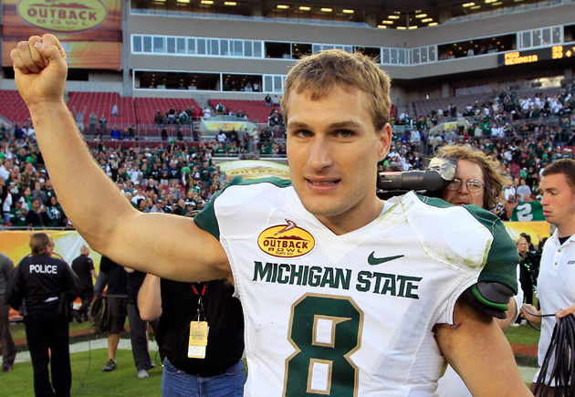 Kirk Cousins has enjoyed a rather impressive 2012. (AP)