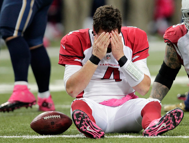 Kevin Kolb had a rough night. (AP)