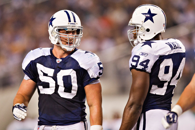 Sean Lee (#50) and DeMarcus Ware have defined Dallas' front seven. (Getty Images)